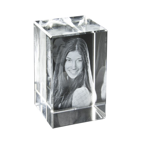 Foto in Glas - 3D Portrait - 1 Person 45x55x30 mm 1 Person