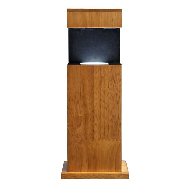 Stele, Holz 407x162x116 mm für Glablock 130x90x75_x000D_ mm quer