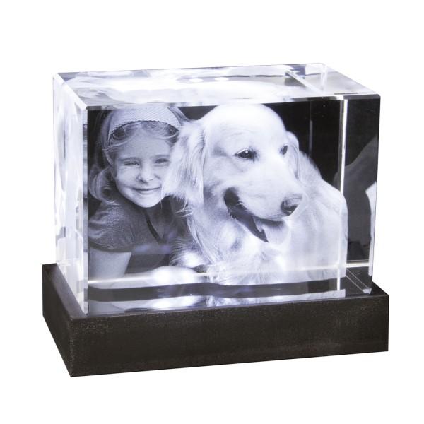 Foto in 3D Portrait - Glasblock Querformat 100x70x60 mm 1-3 Personen