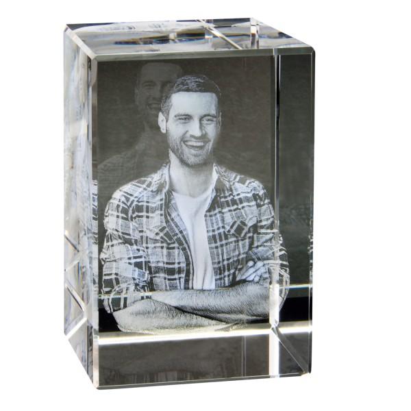 3D Foto in Glas 90x60x60 hoch 60X90x60 mm 1-3 Personen