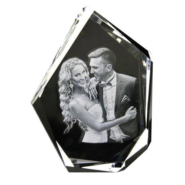 3D Glasfoto DIAMOND XL 230x172x60mm hoch 1-6 Personen