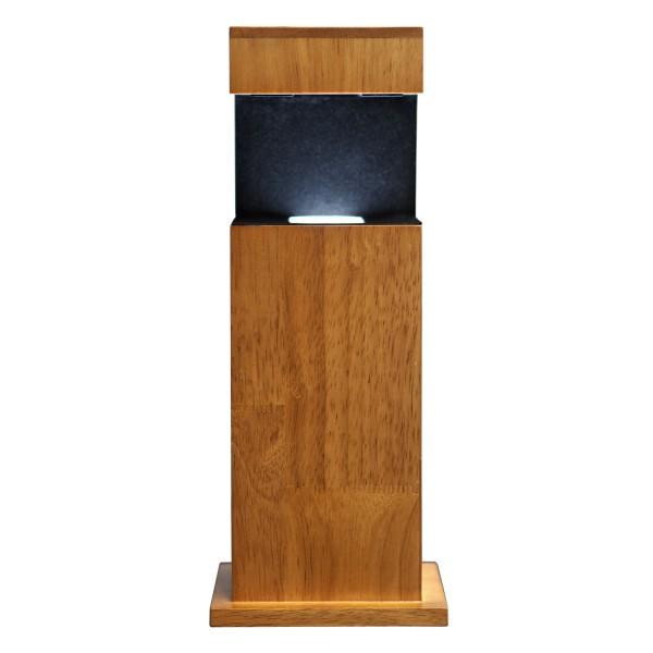 Stele, Holz mit Glasblock 90x60x60 mm quer 1-3 Personen