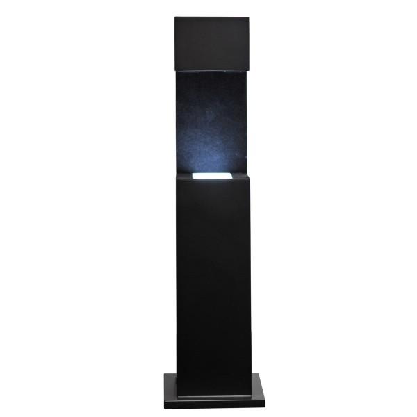Stele, schwarz 467x122x116 mm für Glasblock 130x90x75_x000D_ mm hoch