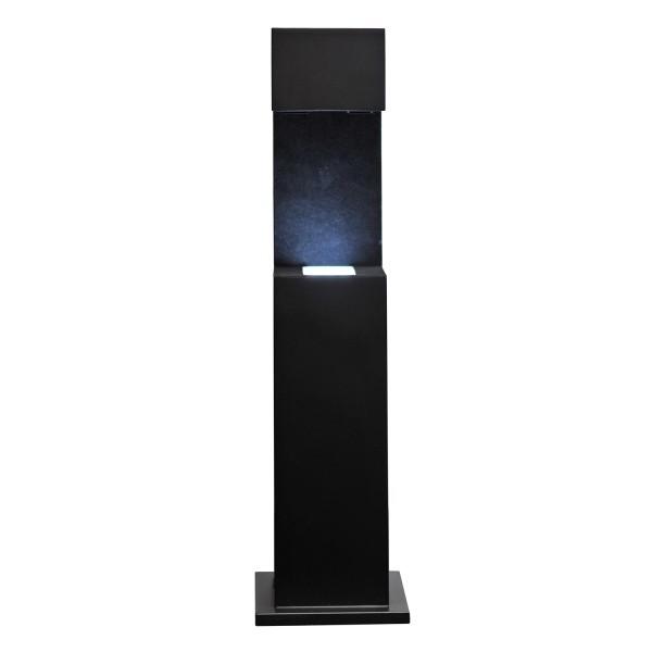Stele, schwarz 361x96x95 mm für Glasblock 100x70x60_x000D_ mm hoch