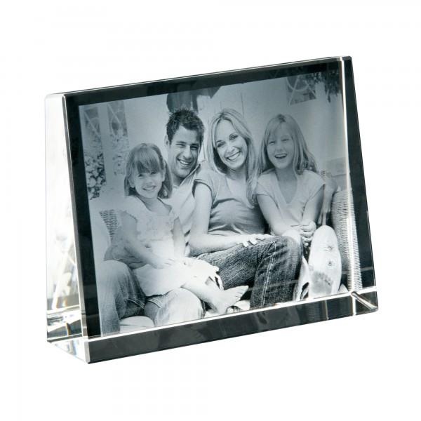 Cubo di cristallo foto in 2d formato orizzontale 105x80x30 mm