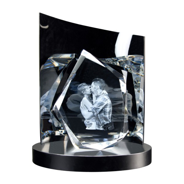 3D Glasfoto DIAMOND L + Clarisso® Sockel - SET