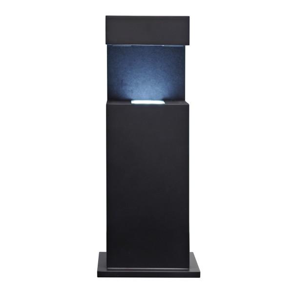Stele, schwarz 317x125x95 mm für Glasblock 100x70x60_x000D_ mm quer