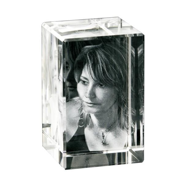 3D Glasbild - Foto im Glas Hochformat 35x60x35 mm 1 Person