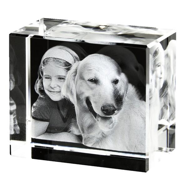3D Foto in Glas 90x60x60 Querformat 1-3 Personen