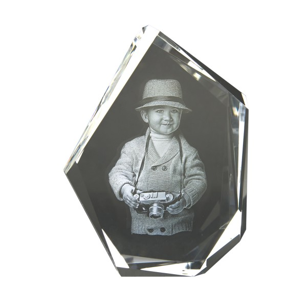 3D Glasfoto DIAMOND L 200x15x50mm hoch 1-4 Personen