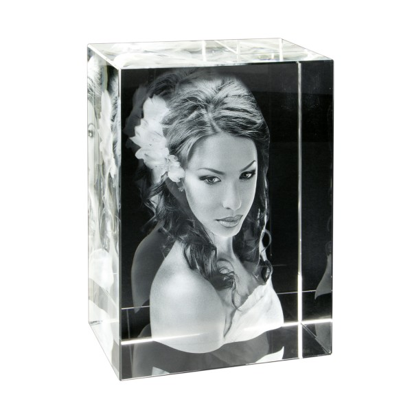 3D Glasfoto - Extra Gross 150x200x100 mm 1-10 Personen