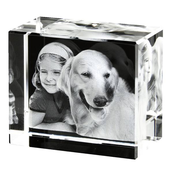 3D Glasfoto Gross Querformat 130x90x75 mm 1-6 Personen