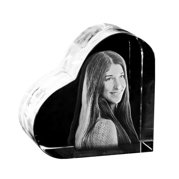 Glasherz 3D selbststehend 58x58x35 mm 1 Kopf